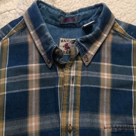 7458583a3d0 Indigo Other - Madison Trader Indigo Men s L shirt 100% cotton